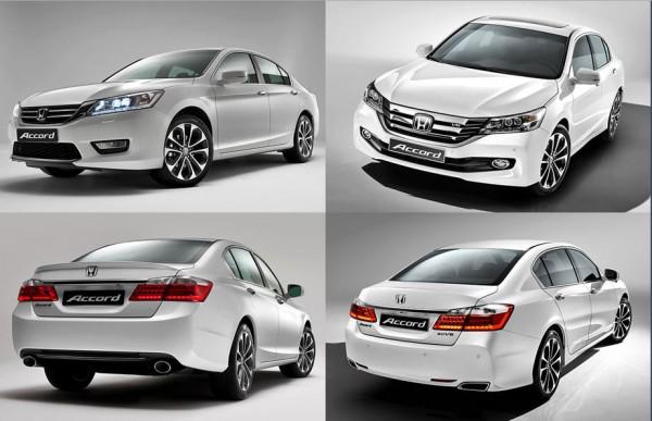Honda Accord до и после фейслифта 2014 года