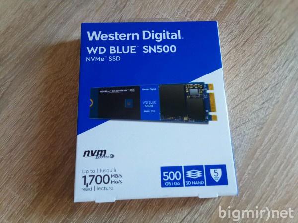 Упаковка WD BLUE SN500 NVME SSD