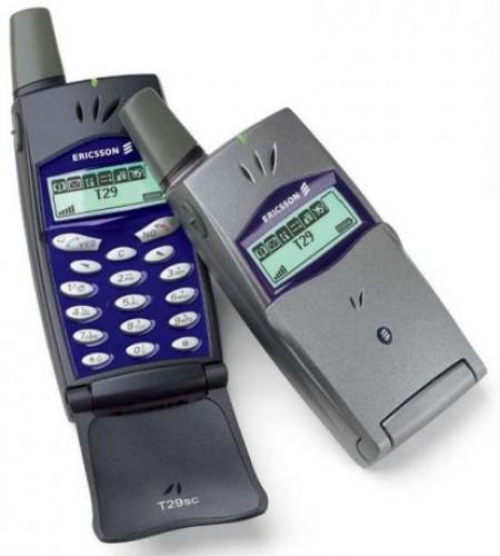 Ericsson T29: заметь, какой маленький дисплей. Это тебе не Samsung Galaxy Note II