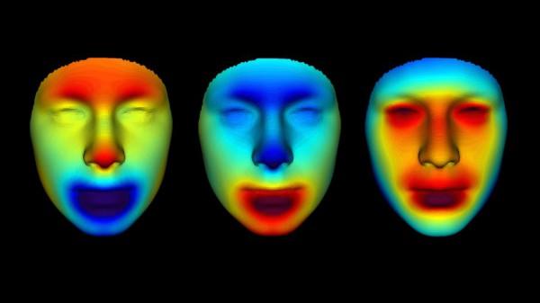 Тепловые карты разных лиц позволили ученым уточнить детали и выделить различия в чертах мумий