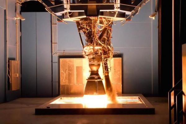 Испытание ступени Merlin 1D