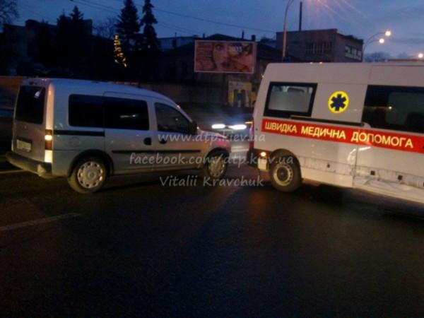 Авария со скорой в Киеве