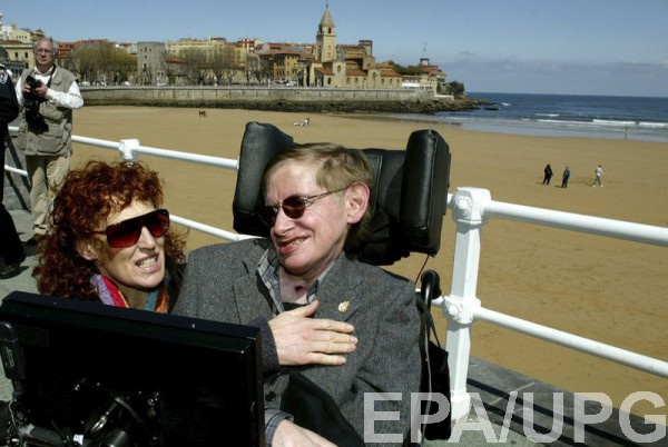 Стивен Хокинг со второй женой