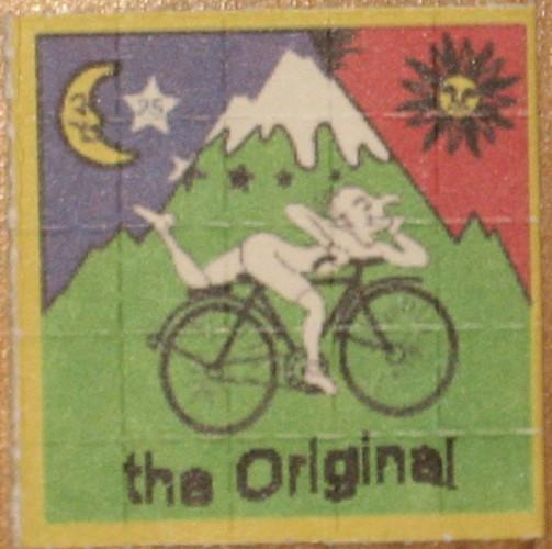 Марка, посвященная дню велосипедиста