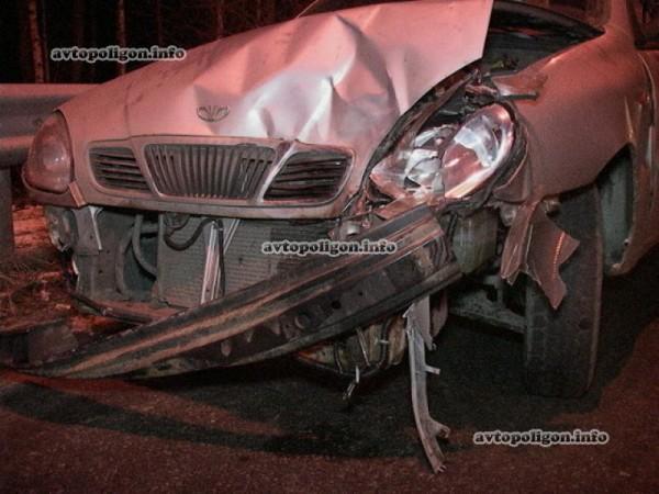 В аварии пострадал один человек