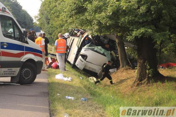 Украинский автобус в Польше попал в аварию