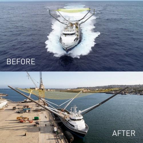 Судно до и после усовершенствования