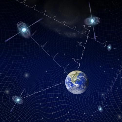 Постоянные световые сигналы пульсаров могут искажаться фоном гравитационных волн - повсеместное искажение пространства-времени