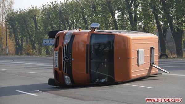 Авария на въезде в Житомир