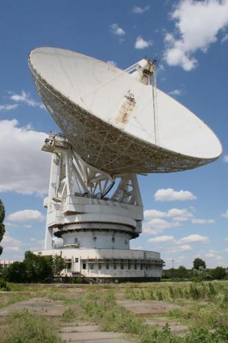 Радиотелескоп РТ-70 под Евпаторией, с которого передавались сообщения