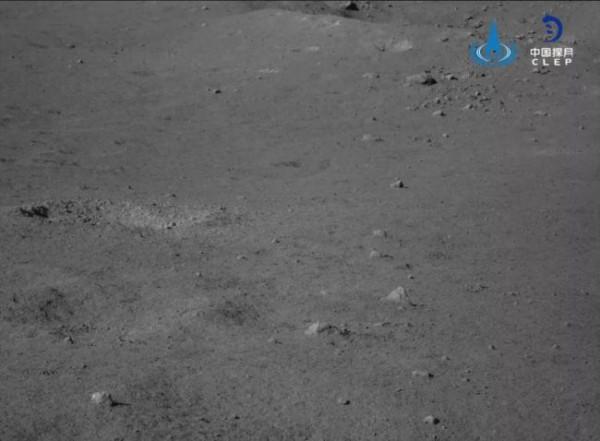 Фрагмент камня, видимый камерой обхода препятствий Юту-2