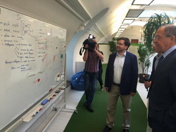 Лавров посетил офис ВКонтакте
