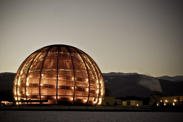 А вот и ЦЕРН - одно из зданий его штаб-квартиры в Мерене (кантон Женева, Швейцария).