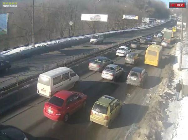 Пробки в Киеве: на Телиги тянучка