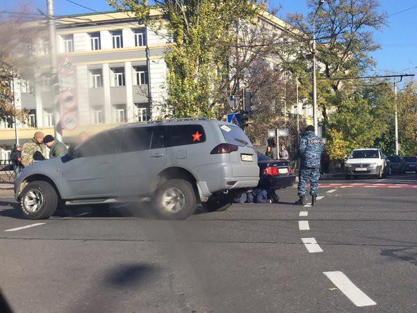 Авария с боевиками в Донецке