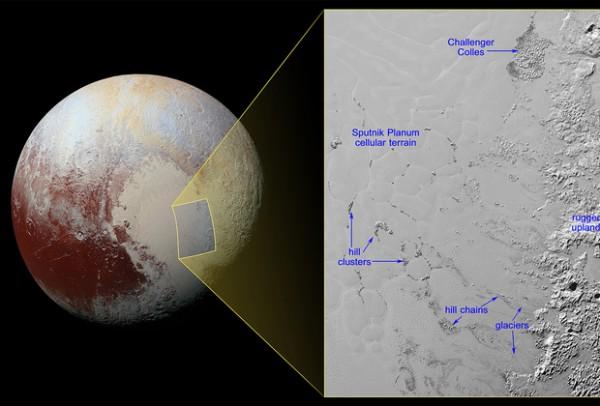 На поверхности Плутона плавают айсберги