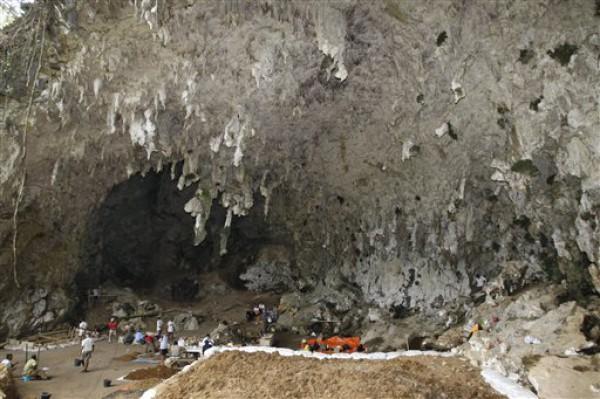 Пещера, где нашли останки хоббитов