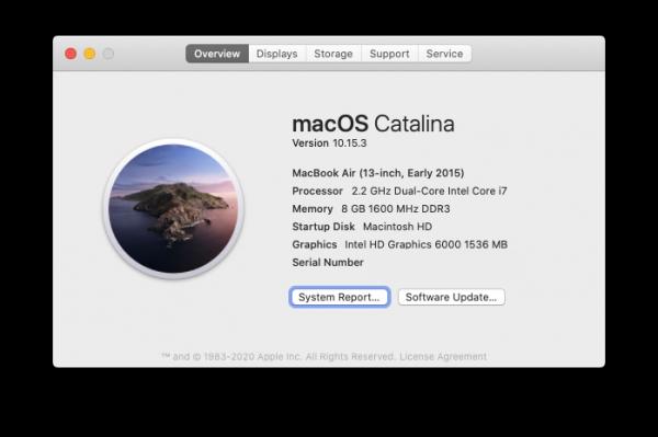 Смотрим серийный номер в настройках Mac