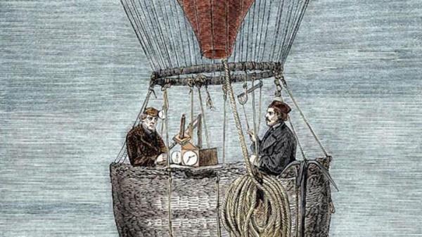 Глейшер и Коксвелл на воздушном шаре