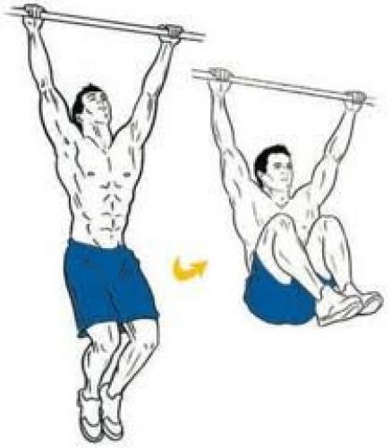 Тяжело поднимать выпрямленные ноги? Выполняй упражнение с согнутыми коленями