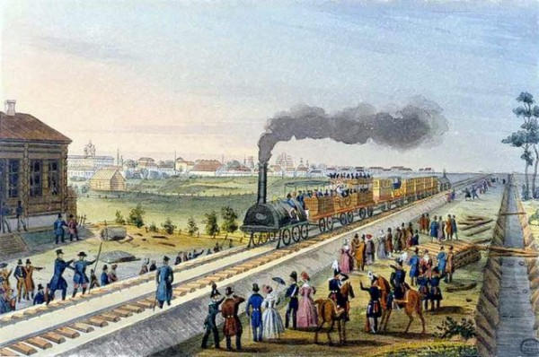 Первая в мире железная дорога с регулярным пассажирским движением
