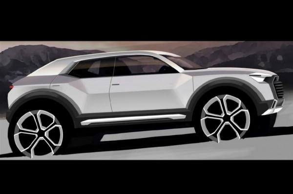 Единственный официальный тизер предстоящего Audi Q1