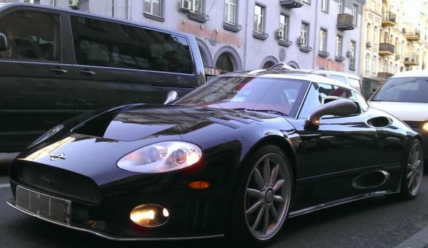 Spyker C8 на улицах Киева