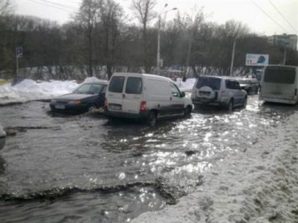 На Борщаговке потоп