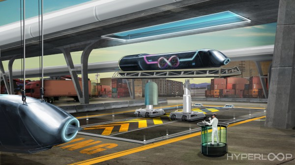 Предполагаемый вид транспорта будущего Hyperloop