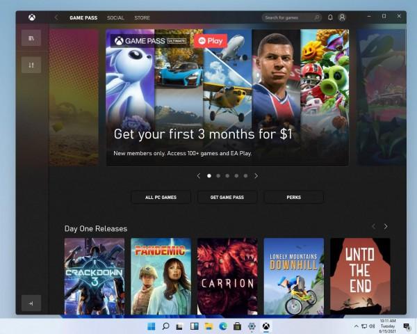 Новое приложение Xbox для Windows 11