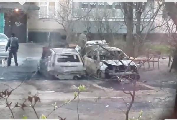 Сожженные машины на Лесном