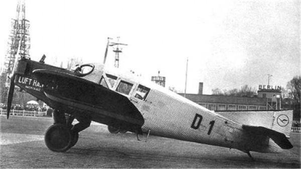 Первые самолеты Люфтганзы