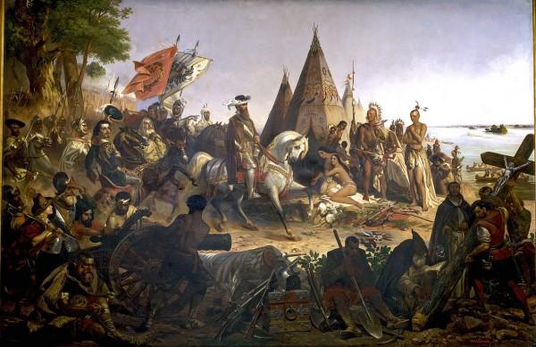 «Открытие Миссисипи», американское полотно 1847 года.