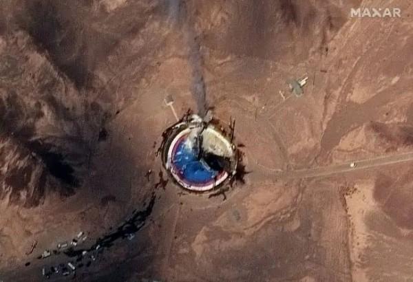 Спутниковый снимок стартовой площадки после аварии