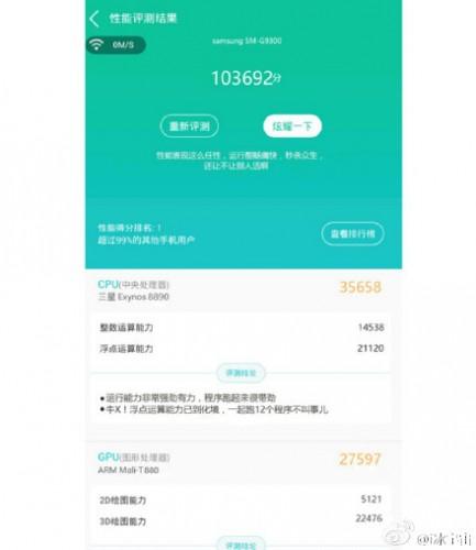 Утечка данных о Samsung GALAXY S7