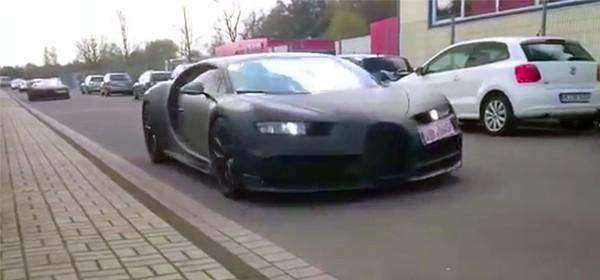 Bugatti Chiron заметили в Германии