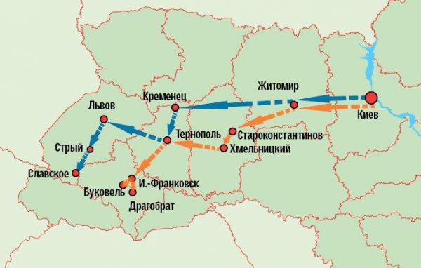 Буковель. От Киева маршрут