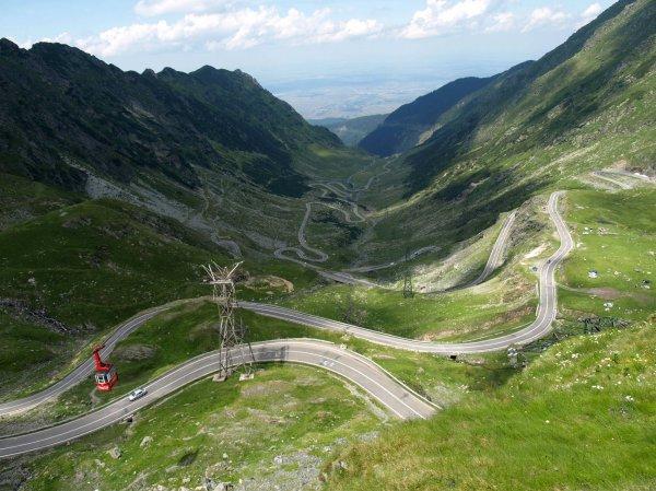 Дорога Transfagarasan в Румынии