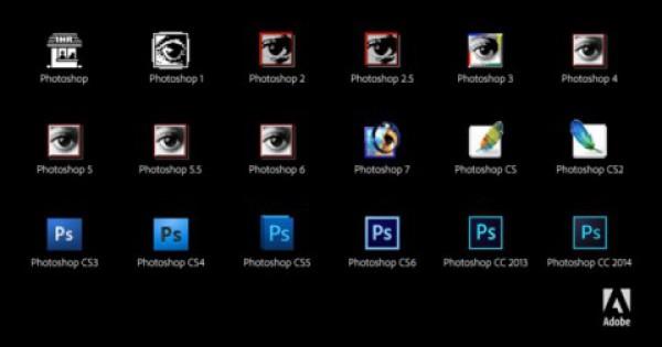 Эволюция иконок Photoshop