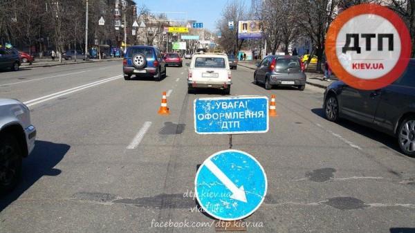 Место аварии с участием пешехода