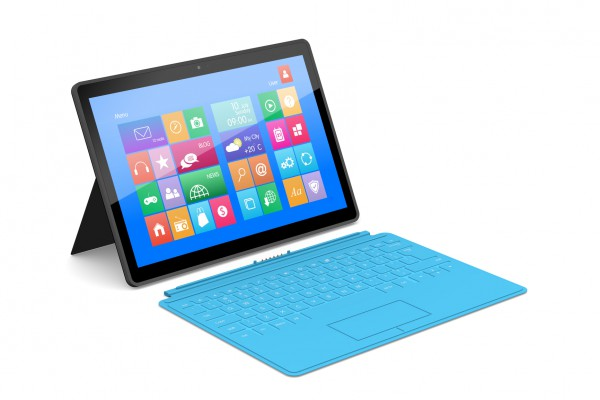 Для быстрого набора можно подключить к планшету клавиатуру
