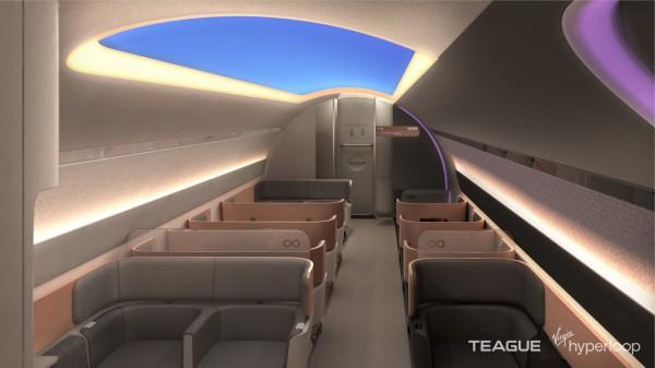 Дизайн вагонов Hyperloop