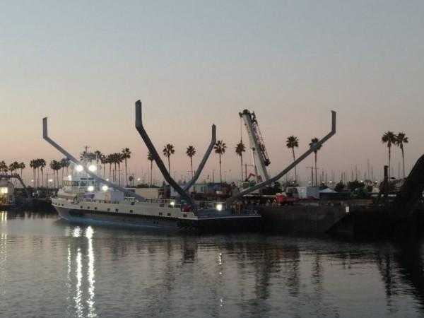 Корабль для ловли обтекателей