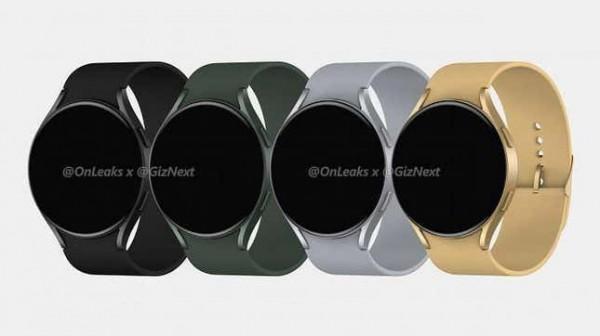 Рендеринг четырех предполагаемых новых умных часов Galaxy Watch 4