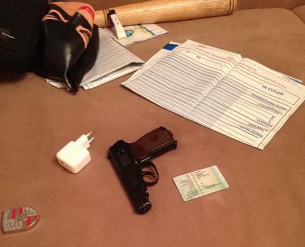 В квартире нашли оружие
