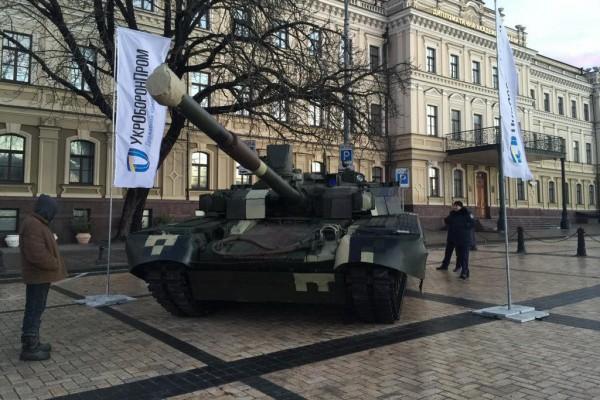 В центре Киева появился новейший боевой танк