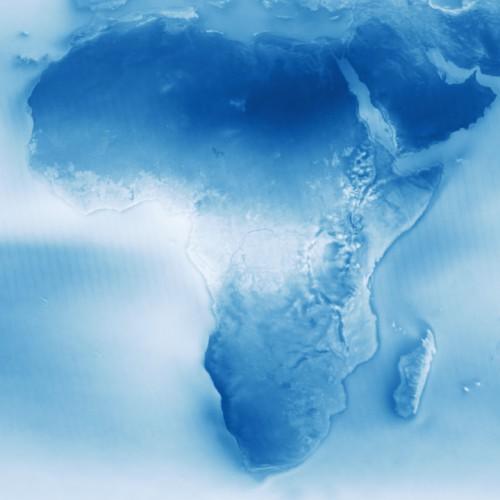 Карта облачности Африки