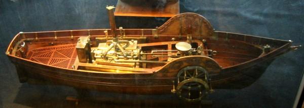 Модель «Пироскафа», сделанная автором в 1784 году