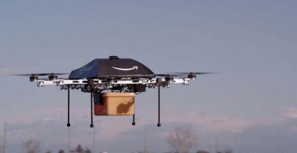 Amazon уже тестируют доставку посылок беспилотниками