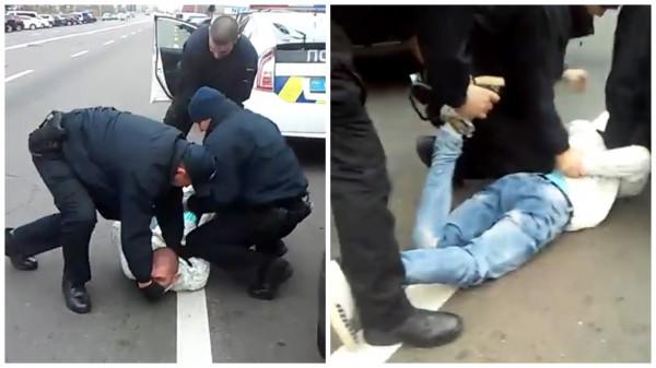 На Троещине задержали неадекватного водителя